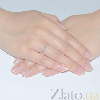 Кольцо обручальное с фианитами Сьюзен 3523207