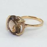 Золотое кольцо с раухтопазом Аврея