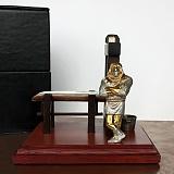 Серебряная авторская композиция Палач, гильотина для сигар