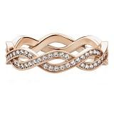 Обручальное кольцо из розового золота с бриллиантами Загадки Галактики: Солнечный ветер