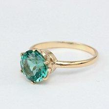 Золотое кольцо Корнелиа с синтезированным аметистом