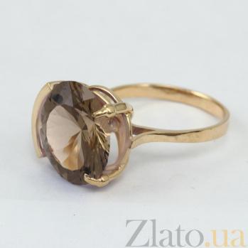 Золотое кольцо с раухтопазом Аврея VLN--112-1345-2