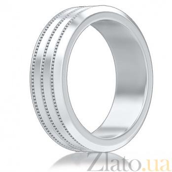 Мужское обручальное кольцо из белого золота Тайна: Бесконечность 7123