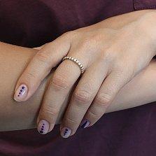 Кольцо из желтого золота Эдельвейс с бриллиантами