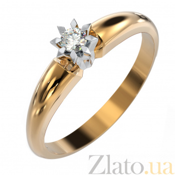 Золотое кольцо Вдохновение с бриллиантом VLA--15100
