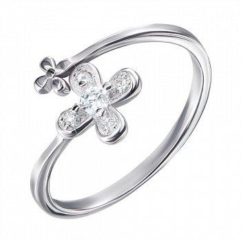 Серебряное кольцо с цирконием 000124657