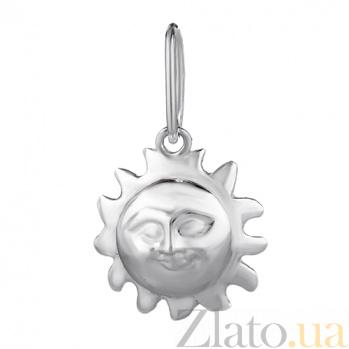 Серебряный подвес Мое солнце LEL--62019