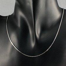 Серебряная цепочка Джули плетения квадратный снейк с насечкой