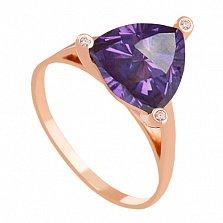 Золотое кольцо Хлоя с александритом и фианитами