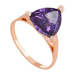 Золотое кольцо Хлоя с александритом и фианитами 000018494