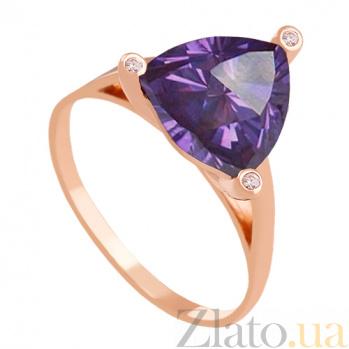 Золотое кольцо Хлоя с александритом и фианитами VLN--112-1367-9