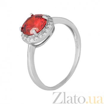 Серебряное кольцо Рашель с фианитом цвета граната 000028311