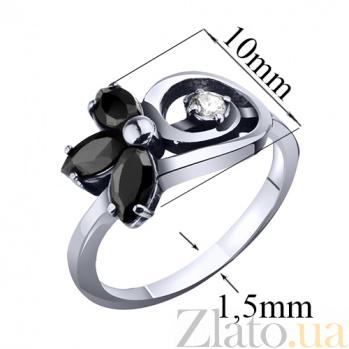 Серебряное кольцо с фианитами Джемма AUR--71586ч