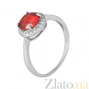Серебряное кольцо с красным фианитом Афсана 000028311