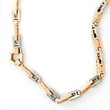 Золототая цепь с двумя бриллиантами Поссейдон