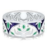 Обручальное кольцо из белого золота Талисман: Веры