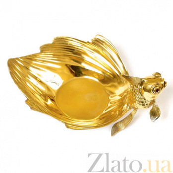 Серебряная икорница Сказочная Рыбка 1662