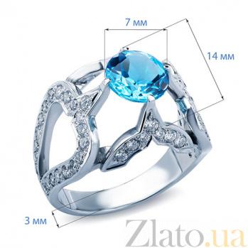 Кольцо с топазом и бриллиантами Florrie  AQA-к012бT