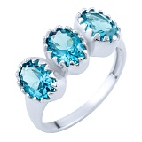 Серебряное кольцо Нитья с синтезированным топазом лондон