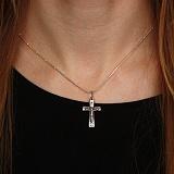 Серебряный крестик Нательная защита с чернением