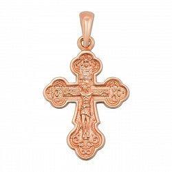 Православній крестик из красного золота 000130831