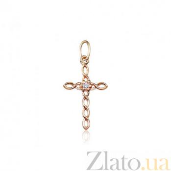 Декоративный крестик с фианитом Стиль 000001181