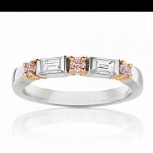 Кольцо Argile из белого т розового золота с розовыми сапфирами и бриллиантами