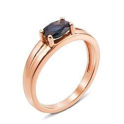Кольцо из красного золота с сапфиром 000131202