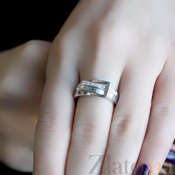 Серебряное кольцо с бриллиантами Амели 79100399