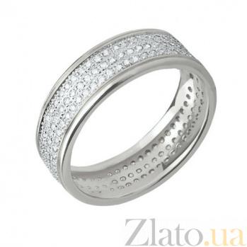 Кольцо из белого золота Исида с фианитами VLT--ТТ178-0