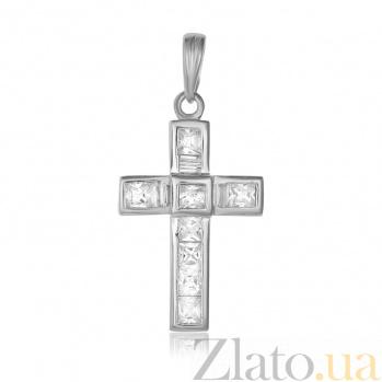 Серебряный крестик с фианитами Шарм 000025275