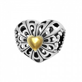 Срібний підвіс-шарм Вінтажна любов з чорнінням 000039718