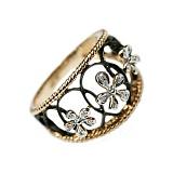 Золотое кольцо с бриллиантами Весенний дух