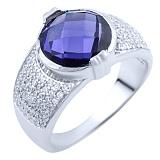 Серебряное кольцо Раджни с александритом и фианитами
