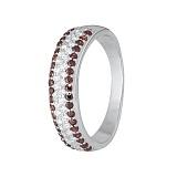 Серебряное кольцо с разноцветными фианитами Жазира