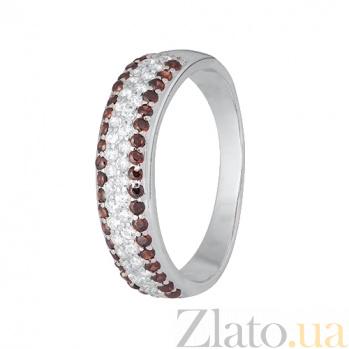 Серебряное кольцо с разноцветными фианитами Жазира SLX--КК2ФРТ1/468