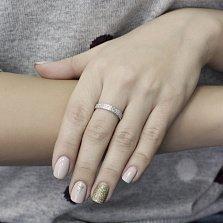 Серебряное кольцо Джордио с белыми фианитами в стиле Гуччи