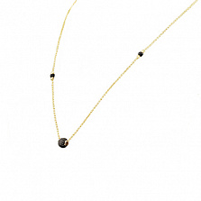 Колье из желтого золота Лафайетт с ониксом и фианитами