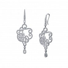 Серебряные серьги Виани с цирконием
