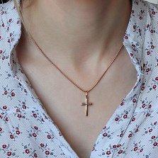 Крестик из красного золота Духовная сила