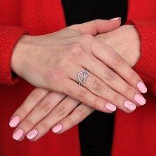 Серебряное кольцо Бесконечная влюбленность с фианитами