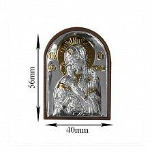 Икона Владимирская Божья Матерь, 40х56мм
