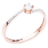 Кольцо в красном золоте с бриллиантами Безмерная любовь