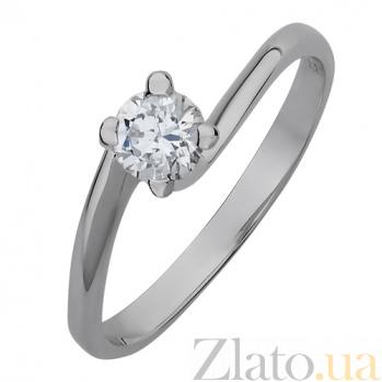 Золотое кольцо Одетта с бриллиантом 000045575