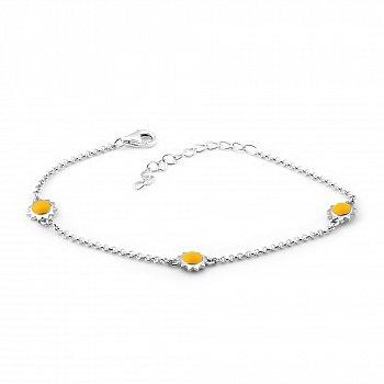 Серебряный браслет с эмалью 000149526
