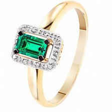 Золотое кольцо с изумрудом и бриллиантами Синьора
