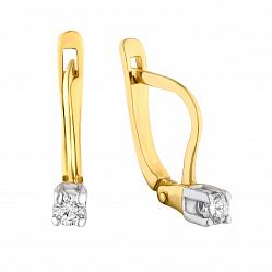 Золотые серьги Матти с бриллиантами