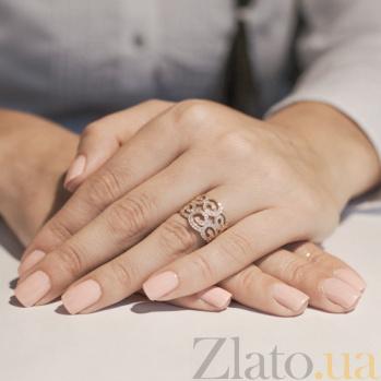 Золотое кольцо Арвен с фианитами 12020