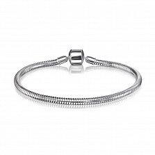 Серебряный браслет для шармов 000123691