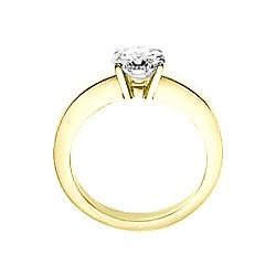 Кольцо из желтого золота с аквамарином Влада
